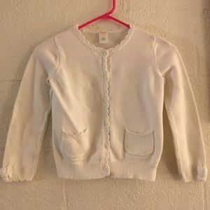 Girls Size M 7/8 Gymboree White Sweater